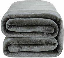 Bedsure Überwurf-Decke, Fleece, grau, King