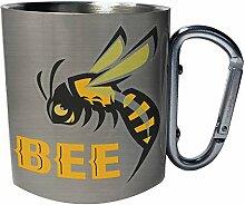 Bee Edelstahl Karabiner Reisebecher 11oz Becher