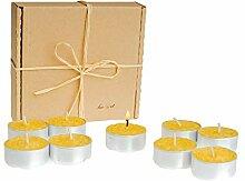 BeeIT Bienenwachs Teelicht, 9 x Teelichter, Kerzen