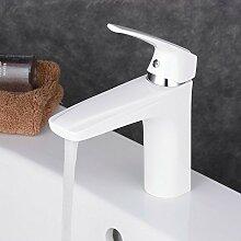 Beelee BL1051W Weiss Elegant Design Waschtisch Armaturen Bad Wasserhahn Badarmatur Waschbeckenarmatur Einhandmischer Waschtischarmatur Mischbatterie Bad Waschbecken Armatur für Badezimmer