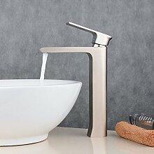 Beelee BL6308NH Einhebel- Mischbatterie Verchromt Wasserhahn Armatur Waschtischarmatur Wasserfall Einhandmischer für Bad Waschbecken (hoch)