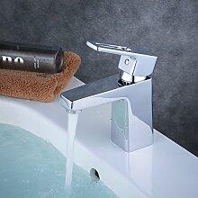 Beelee BL6783 Chrom Wasserhahn Bad Waschbecken Armatur Waschtischarmatur Einhebelmischer Waschtischmischer Mischbatterie Waschtischbatterie Badarmatur