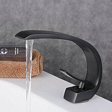 Beelee BL9006B Gebürstete Bronze Schwarz Bad Waschbecken Wasserhahn Waschtisch armatur Einhebelmischer Badarmatur Mischbatterie Waschbeckenarmatur f.Badzimmer