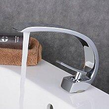 Beelee BL9006C Chrom Bad Waschbecken Wasserhahn Waschtisch armatur Einhebelmischer Badarmatur Mischbatterie Waschbeckenarmatur f.Badzimmer