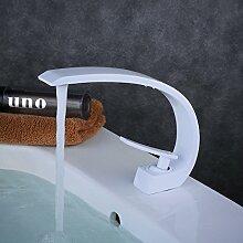Beelee BL9006W Wasserhahn Bad Weiß Waschbecken Waschtisch Armatur Einhebelmischer Badarmatur Mischbatterie Waschbeckenarmatur Badzimmer