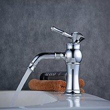 Beelee BL9278 Chrom Wasserhahn Bad Waschbecken Armatur Waschtischarmatur Einhebelmischer Waschtischmischer Mischbatterie Waschtischbatterie Badarmatur