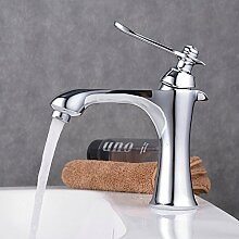 Beelee Chrom Bad Waschbecken Wasserhahn Waschtisch armatur Einhebelmischer Badarmatur Mischbatterie Waschbeckenarmatur f.Badzimmer