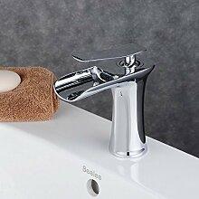 Beelee Elegant Chorm Wasserhahn Einhebel Wasserfall Armatur Mischbatterie Einhebelmischer Waschtischarmatur Badzimmer