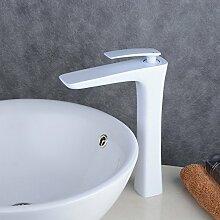 Beelee Elegant weiß Wasserhahn bad Waschtisch Waschbecken Armatur Einhebelmischer Waschtischarmatur Waschbeckenarmatur Badarmatur für Badezimmer