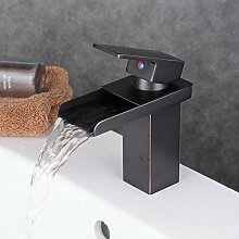 Beelee Messing schwarz Wasserfall Waschbecken Waschtischmischer wasserhahn Armatur