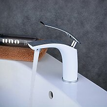 Beelee Verchromt Wasserhahn Waschbecken Armatur Bad Waschtischarmatur Waschbeckenarmatur Einhebelmischer Bad Mischbatterie Badarmatur für Bad