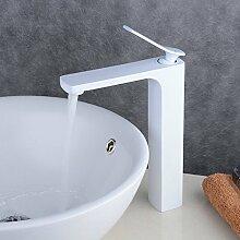 Beelee Weiss Elegant Design Waschtisch Armaturen Bad Wasserhahn Badarmatur Waschbeckenarmatur Einhandmischer Waschtischarmatur Mischbatterie Bad Waschbecken Armatur für Badezimmer