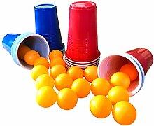 Beer Pong Party-Becher Set, Trinkspiel, 24 Becher