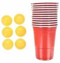 Beer Pong Trinkspiel für Erwachsene, 48 Stück,