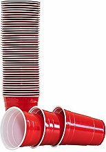 BeerBaller Premium Beer Pong Red Cups - 50 Rote