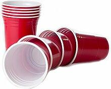 BeerCup-Classics Wiederverwendbare Rote Becher,