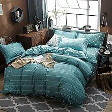 Beerenstrauch dicke gelbes herbst und winter bettwäsche grau blau streifen decken 100% Cotton -E Queen2