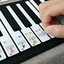 BeesClover Transparente Klaviertasten-Aufkleber 61