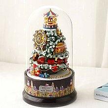 BeesClover Weihnachtskugel, Schneeball, Spieluhr,