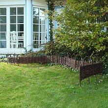 Beeteinfassung Beetumrandung Gartenzaun Abgrenzung Holzzaun Weide Garten