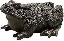 Beetfigur Frosch 50 x 45 cm braun in Steinoptik Dekoration