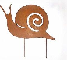 Beetstecker 'Schnecke' aus Metall mit