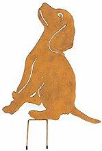 Beetstecker Hund Dekofigur Tierfigur Deko - H52cm