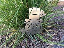 Beetstecker Kürbis mit Hut (Silber, 17cm x 10cm)
