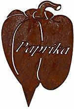 Beetstecker Paprika - ganzjährige Deko (Rost)