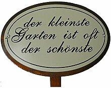 Beetstecker Sprüche Garten Gartendeko Metall Rostfinish 34 cm hoch