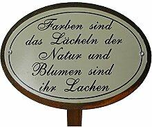 Beetstecker Sprüche Natur Gartendeko Metall Rostfinish 34 cm hoch