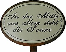 Beetstecker Sprüche Sonne Gartendeko Metall Rostfinish 34 cm hoch