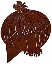 Beetstecker Zwiebel - ganzjährige Deko (Rost)