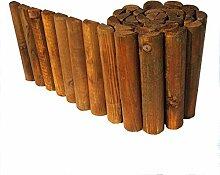 Beetumrandung Rasenkante aus Holz Beetzaun 30 cm