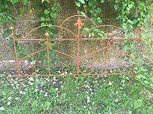 Beetzaun Gartenzaun Rankhilfe Metall Eisen Rost Deko 46cm hoch x 60cm lang