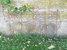Beetzaun Gartenzaun Rankhilfe Schmetterling Eisen Rost Deko 55cm hoch x 80cm lang