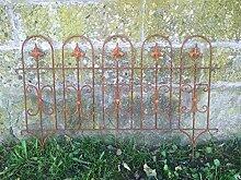 Beetzaun Gartenzaun Windsor Rankhilfe Metall Eisen Rost Deko 58cm hoch x 81cm lang