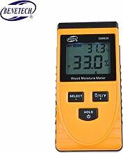 Befaith GM630 Induktive Holzfeuchtetester Digital LCD Display Induktionsholz Feuchtigkeitsmesser Temperatur Tester