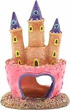 Befaith Rosa Prinzessin Castle Fish Höhlen