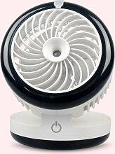 Befeuchtungs-Fan-Desktop UBS Mute Spray Schönheit klein Elektrischer Ventilator 12.6 * 12.4 * 12.4cm , black