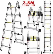 Befied 3.8m Stehleiter Mehrzweckleiter Klappleiter