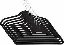 Befied 50 Stück Kleiderbügel Anzugbügel Jackenbügel Wäschebügel Soft-Touch platzsparend
