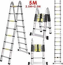Befied 5m Stehleiter Mehrzweckleiter Klappleiter