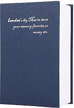 Befied Bücher Tresor Geldkassette Buchattrappe Geld mit 2 Schlüssel Schwarz,Blau,Ro
