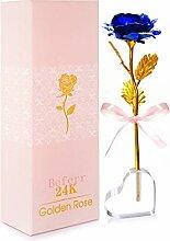 BEFINR 24 K Bunte Rose künstliche Blumen