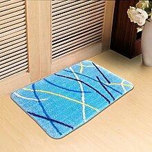 Beflockung Mat/Gepolsterte Antirutsch-matten/Schlafzimmer Tür Matte/Küche Und Toilette Wasserabsorbierenden Pad-C 60x100cm(24x39inch)