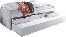Begabino Tandemliege Nessi in betonfarbig/weiß
