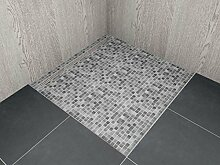 begehbare Dusche mit Rinne Maßanfertigung bis 1,0