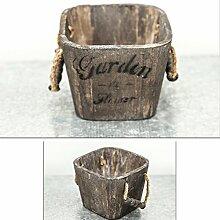 Behälter aus Holz, Pflanzen und Blumen Topf,