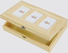 Behälter/Box Bilderrahmen 3Sitzer, Dekoration, für Decoupage–aus Holz